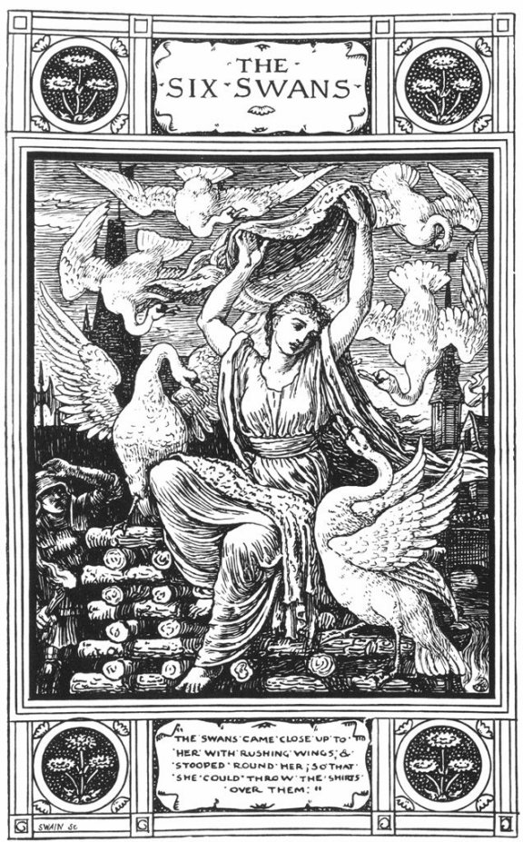 Fairy_Tales_From_The_Brothers_Grimm_Six_Swans_3_By_Walter_Crane
