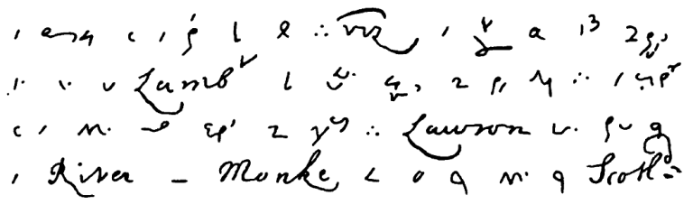 Pepys_diary_shorthand